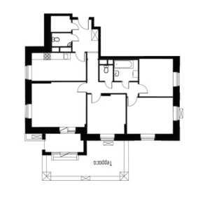 Планировка 4-комнатной квартиры в Лайково - тип 1